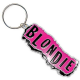 Blondie chromed metal keyring (ro)
